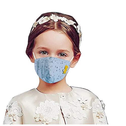 Eaylis Kind Einfarbig Face Mask Multifunktionstuch Weihnachten Maske Waschbar Wiederverwendbar Stoffmaske Baumwolle Mund-Nasen Bedeckung Verstellbar Atmungsaktiv Halstuch Schals für Herren Damen