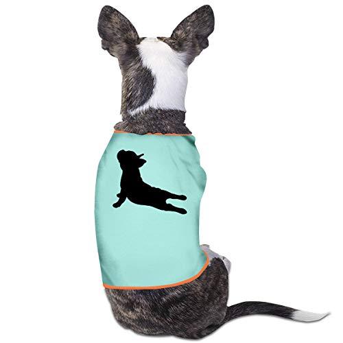 DLOAHJZH-Q French Bulldog Yoga Puppy Vest Tank Tops Dogs Pet Sleeveless T Shirt