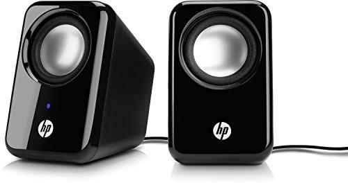 HP 2.0 (BR367AA) Mulitmedia Lautsprecher (USB-Anschluss, 3,5-mm-Audiobuchse, 1 Watt, 150 Hz - 20 KHz) schwarz