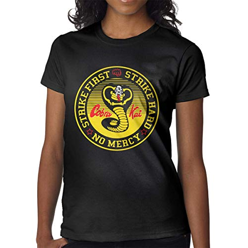 Tengyuntong Camiseta de manga corta para mujer Cobra-Kai, ropa de trabajo al aire libre, camiseta de algodón, ajuste clásico