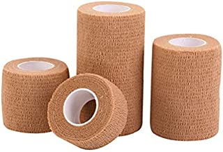 LIOOBO 10 Roll 2X 5 Yards Medical Bandages - Non Woven First Aid Tape - Self-Adhesive Bandage Rolls,FDA Approved (Skin)