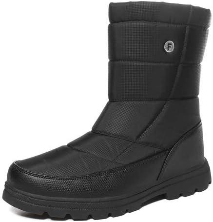 EXEBLUE Men Women Winter Omaha Max 54% OFF Mall Snow Unisex Mid Boots Water-Resistant C