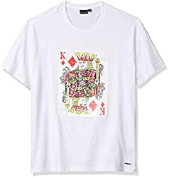 King White Reverse Sequin Tee