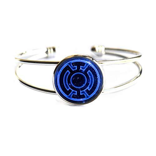 Brazalete de linterna azul, brazalete de linterna azul, brazalete de videojuegos, regalos de arte, para ella, para él, TAP097