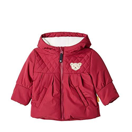 Steiff Baby - Mädchen Jacke , Rot (BEET RED 4010) , 80 (Herstellergröße:80)