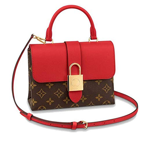 BFCDF Red Small Women Leather Portable Wear-resistant