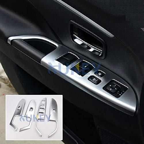 AUTOXBERT Fits for Mitsubishi ASX Outlander Sport RVR 2011-2014 2015 2016 2017 2018 2019 Chrome Door Window Switch Button Panel Cover Trim Decoration