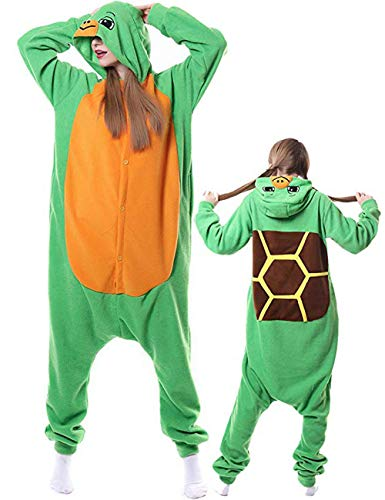 Turtle Onesie Adult Pajamas Costume Animal Cosplay Outfit for Women Men