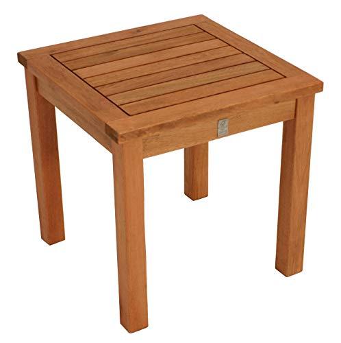 DEGAMO Beistelltisch VARADERO aus Eukalyptus Holz, Maße 40 x 40 x 40 cm, Oberfläche geölt