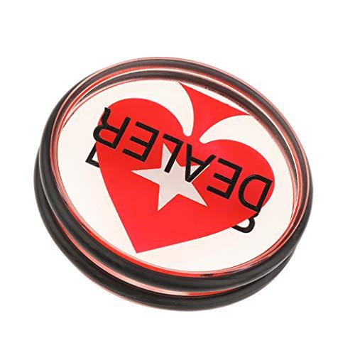 Bonarty Acryl Dealer Button | Herz Poker Puck | Casino Grade Button Gaming Zubehör | Perfekt Für Poker, Texas Hold'em, Glücksspiele Und Kartenspiele