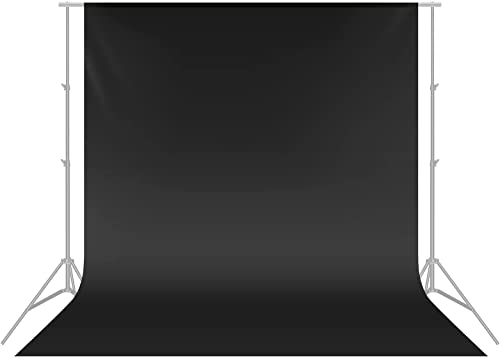 Neewer PRO Photo Studio 100% Pure Muslin Collapsible Backdrop Background, BLACK, 10 x 20FT / 3 x 6M