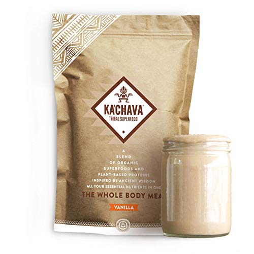 KaChava Meal Replacement Shake - A Blend of Organic Superfoods and Plant-Based Protein - The Ultimate All-In-One Whole Body Meal. (Vanilla) 900g Bag = 15 meals (60g serving size)