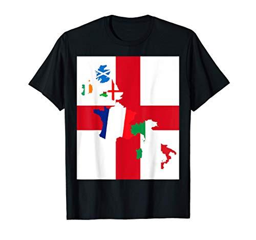Inghilterra Rugby-Fan St George Cross Flag Maglietta