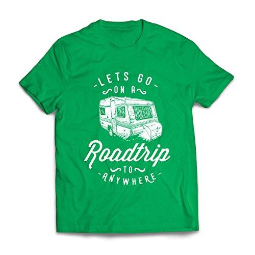 lepni.me Heren T-shirt Roadtrip naar Overal, Perfecte Familie Vakantie, Liefde Camping – Wild, Bos, Strand Vakantie