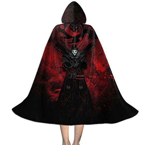 NUJSHF Reaper Art Ov-erwatch Capa con Capucha Unisex para Halloween, Navidad, decoracin de Fiestas, Disfraces de Cosplay