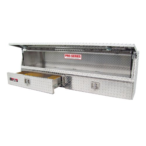 Brute 80-TBS200-72-BD Pro Series 72' Contractor TopSider Polished Aluminum Tool Box with Doors & Drawers