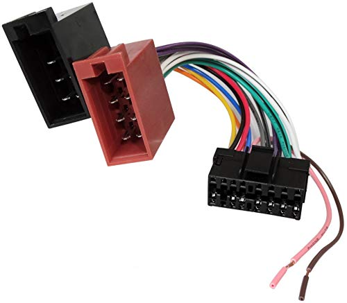 AERZETIX - Convertitore/Adattatore E6 ISO, per autoradio ISO