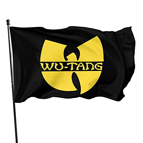 YeeATZ Wu-Tang Clan Flag 3x5 Ft Fahnen Flagge Flag Banner Polyester Material Gartenbalkon Gartendekoration Im Freien 90x150cm xwxb