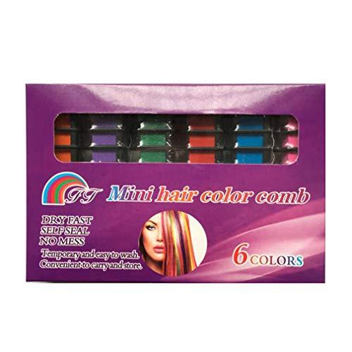 Kinshops 6pcs / Set Disposable Hair Comb Dye Sticks Optional Dye Hair Chalk Colorant Comb Hair Styling Dye Comb