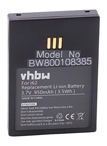 vhbw Li-Ion Akku 950mAh (3.7V) passend für schnurlos Festnetz Telefon Ascom 9D62, D62, i62, i62 Messenger, i62 Protector, i62 Talker