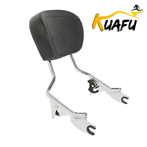 Chrome Detachable Backrest Sissy Bar With Pad for Harley Touring Street Glide Road King 2009-2020
