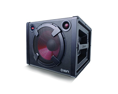 ION Audio Road Rider | 120-watt Portable Bluetooth Mono Speaker System with Rechargeable Battery + AC & DC Power Inputs