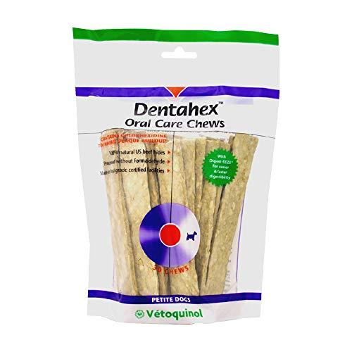 Vetoquinol Dentahex Oral Care Chews for Dogs - Petite/Small, 30ct