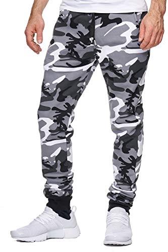 OneRedox Herren Jogging Hose Jogger Streetwear Sporthose Modell 794 (L (Fällt eine Nummer Kleiner aus), Weiss)