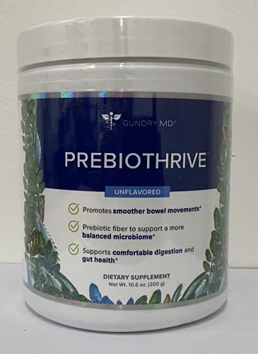 PREBIOTHRIVE Prebiotic Supplement for Digestive Support and Gut Health with Portable Travel Scoop