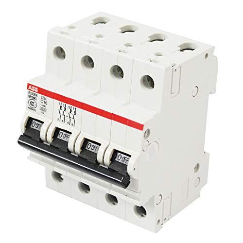 ABB S264 C16 Leitungsschutzschalter 16A, 4 Pol Sicherungsautomat Type C