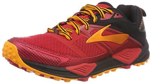 Brooks Cascadia 12, Zapatillas de Running para Asfalto Hombre, Rojo (Red/Black/Orange 1d663), 41 EU