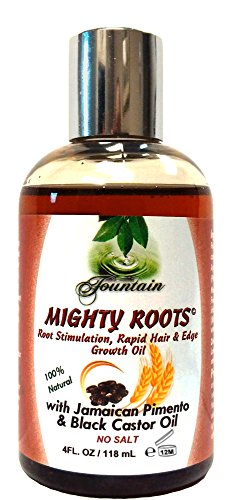 Fountain Jamaican Black Castor Oil and Pimento Edge or Hair Loss Treatment for 3 Times Faster Growth 4 Ounces