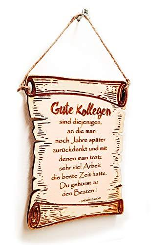PISDEZ lustige Abschiedsgeschenk Grußkarte zum Abschied oder Renteneintritt aus Holz - Rente - Pension (Zum Aufhängen - Größe S)