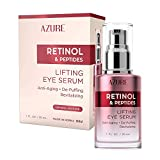 AZURE Retinol & Vitamin E Lifting Eye Serum - Anti-Aging, De-Puffing & Revitalizing | Reduces Wrinkles, Fine Lines & Under Eye Bags | Calms & Soothes Skin | Made in Korea - 30mL
