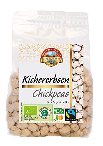 Pois Chiches biologiques BIO 1,5kg de commerce équitable, sans gluten, cru, sans OGM, Max Havelaar Fairtrade, merveilleux gigantesques pois aromatiques d'Ouzbékistan 6x250g