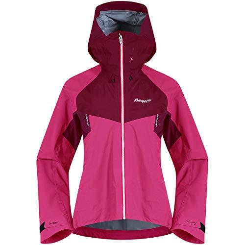 Bergans Slingsby 3L W Jacket Pink, Damen Dermizax™ Regenjacke, Größe M - Farbe Raspberry - Beet Red - Silver Grey