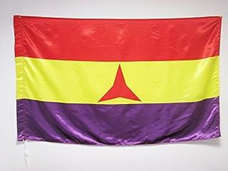 AZ FLAG Bandera ESPAÑA Republicana BRIGADAS INTERNACIONALES 150x90cm en Raso para Palo - Bandera DE LA Republica ESPAÑOLA ...