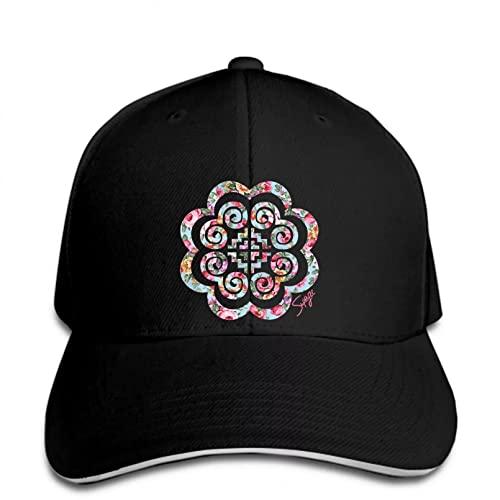 Berretto da Baseball con Stampa Personalizzata Hmong Floral Hmong Women Snapback Hat con Visiera Regolabile Stampato Cappello Visiera Regalo