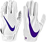 Nike Men's Vapor Jet 5.0 Football Gloves - White Pack (Large, White/New Orchid)