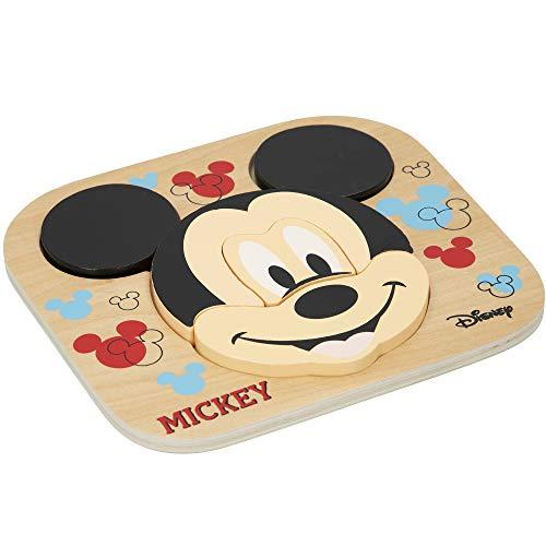 Disney - Puzzle infantil niños 1 año Puzzle xxl infantil Puzzle 5 Piezas grandes Juguetes educativos Puzzles niños Puzzle niñas Juguete bebé Juguetes madera 1 año Mickey