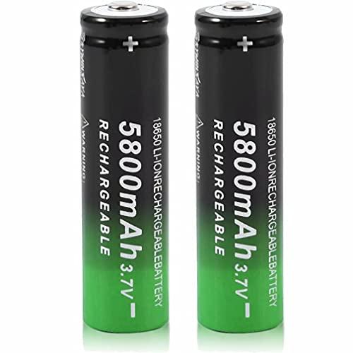 kally 18650 Piles Rechargeables 3.7V 5800mAh li-ION Haute Capacité Batterie, pour Éclairage Solaire, Sonnette, Télécommandes, Lumières de Jardin, Lampes de Poche (Lot de 2)