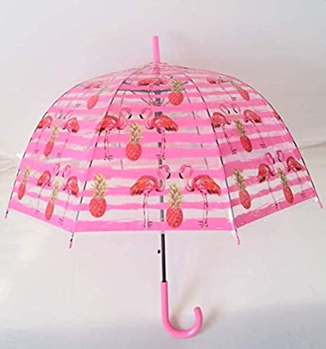con Medidas de 50 cm Anti Viento Disponible en 3 Modelos con Diferentes Dibujos. con Varillas y Estructura de Fibra G4G Paraguas Transparentes con Dibujo de Unicornio Amarillo