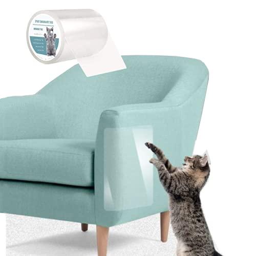 Nincee Kratzschutz Katze Hunde, Kratzschutz Katze Hund Transparent Selbstklebend Kratzfestes für Sofa, Tür, Möbel, Wand, Doppelseitig Transparent Katze Klebeband (15X300 cm)