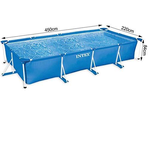 HUWAI Swim Center paraíso Piscina Inflable, Piscinas inflables Anillo Superior de natación al Aire Libre del césped del jardín de Tierra Redondo Piscina,450 * 220 * 84cm