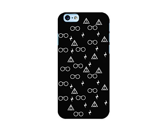 UrbanKaos Cover Custodia iPhone Harry Potter e i Doni della Morte (Death Hallows) TPU Morbida Nera (iPhone 7/8 Morbida)