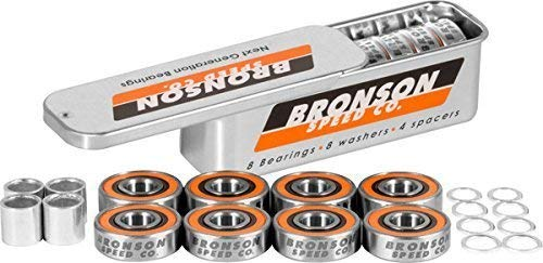 Bronson G3 Bearings Single Set W/Spacers+Washers by Bronson Speed Co