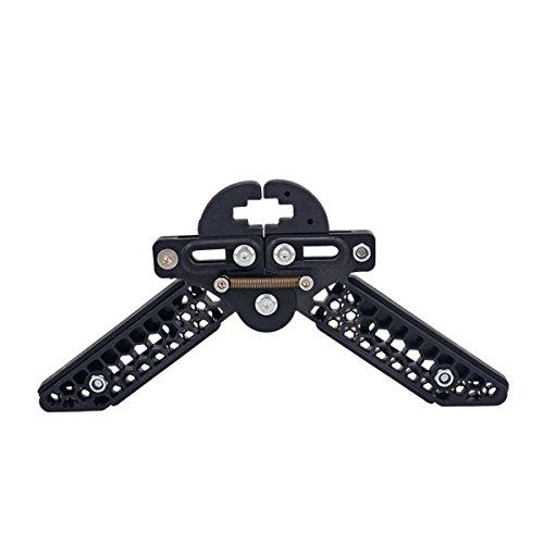 VORCOOL Compound Einstellbar leichte Schere Stil Bogenschießen Bow Kick Stand Halter (schwarz)