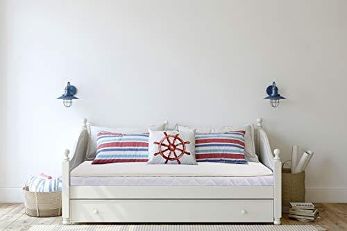 Omkeerbare matras Topper Warm & Omkeerbaar 100% Merino Wol Onderdeken bedlaken Alle seizoenen onder laken matrasbeschermer wieg onder deken. Voor baby, kind, peuter, kind. absorbeert natuurlijk vocht. Afmeting: 70x140cm