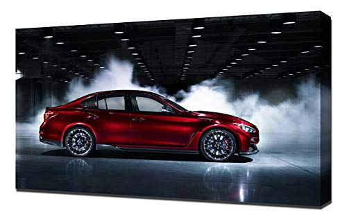 2014-Infiniti-Q50-Eau-Rouge-Concept-V2-1080 - Canvas Art Print - Muur Kunst - Canvas Wrap