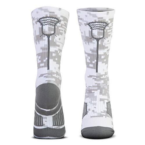 Lacrosse Woven Mid-Calf Socks | Lax Stick Head | Digital Camo